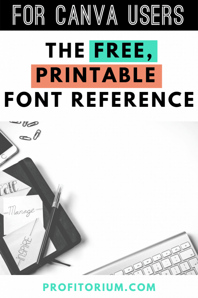 The Free, Printable Font Reference for Canva: No More Slow Scrolling to Find Fonts